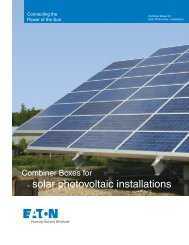 Combiner Boxes for Solar Photovoltaic Installations - Eaton Canada