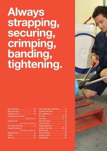 Always strapping, securing, crimping, banding, tightening. - Signet