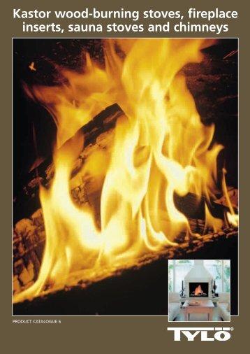 Kastor wood-burning stoves, Fireplace Inserts, Sauna stoves