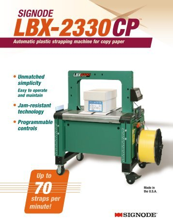 Signode LBX-2330CP Automatic plastic strapping machine for copy ...