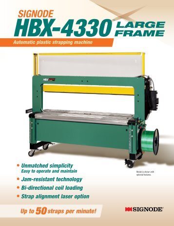 Signode HBX-4330 Large Frame Automatic Plastic Strapping ...