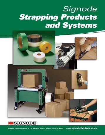 Signode Distributor Sales catalog of strapping products and ...