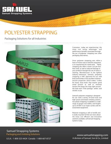 POLYESTER STRAPPING - Samuel Strapping Systems