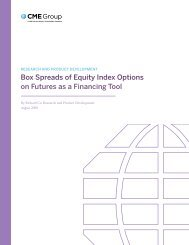 Box Spreads of Equity Index options on Futures as a ... - CME Group