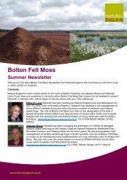 Bolton Fell Moss - Update - Natural England