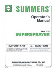 Pull Type Supersprayer - Summers Manufacturing, Inc.