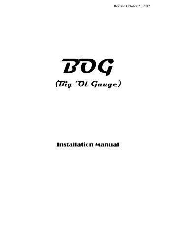 bog big ol gauge classic instruments bog installation guide classic instruments