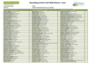 Flora Record card_June_Scientific name - Vascular Plants ...