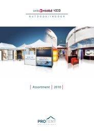 Assortment 2010 - Pro Tent AG