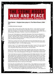 Pete Garner transcript (Part 1) - final - The Stone Roses