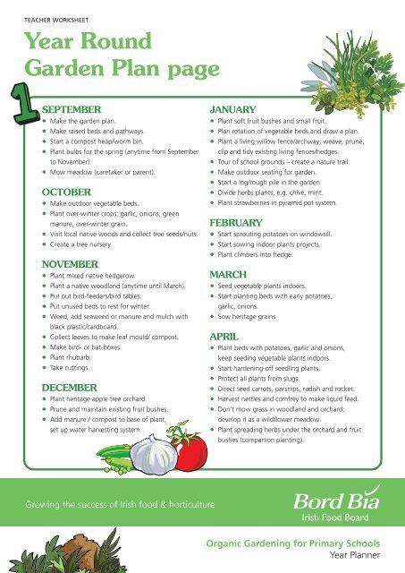 Year Round Garden Plan Page Bord Bia