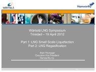 Wärtsilä LNG Symposium Trinidad – 19 April 2012 Part 1: LNG ...