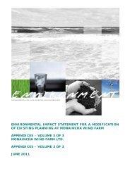 Environmental Impact Statement, Appendices