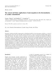 The current and future applications of microorganism in the ...