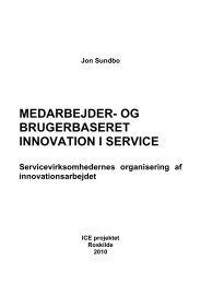 medarbejder- og brugerbaseret innovation i service - The ICE-project