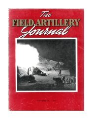 THE FIELD ARTILLERY JOURNAL - NOVEMBER 1943 - Fort Sill