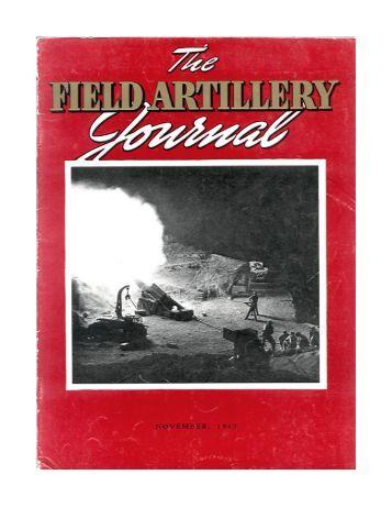 THE FIELD ARTILLERY JOURNAL - NOVEMBER 1943 - Fort Sill