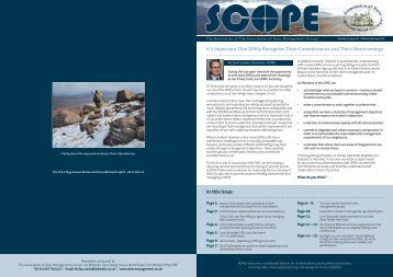 Scope - Association of Deer Management Groups