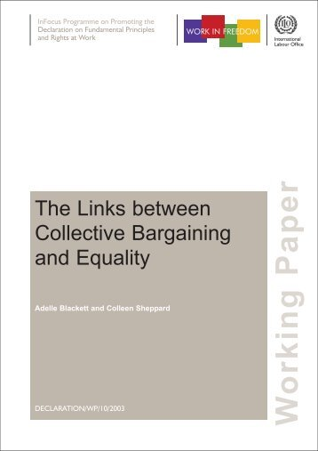 The Links between Collective Bargaining and Equality, ‎pdf