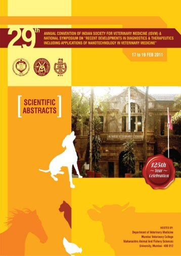 scientific abstracts - Isvm.net - Indian Society for Veterinary Medicine