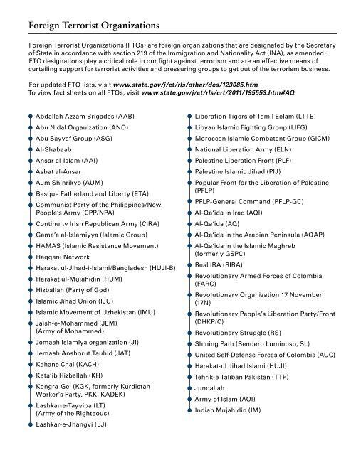 COUNTERTERRORISM 2013 CALENDAR - NCTC