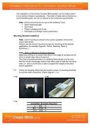 Installation Instructions for Aluminium Venetian Blinds - Cheapa Blinds