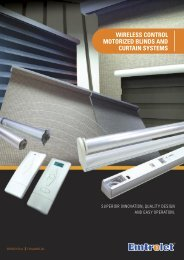 wireless control motorized blinds and curtain systems