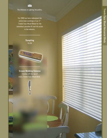 Trends Faux Wood Blinds - Crown Shade Company
