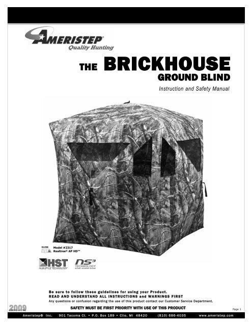 Ameristep Brickhouse Ground Blind Instructions