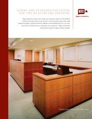DOORS AND VENEERED SOLUTIONS FOR ... - Eggers Industries