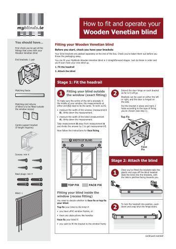 Fitting Instructions For Solar Inserts Merit Blinds