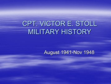 Captain Victor E. Stoll's Military History - 398th Bomb Group