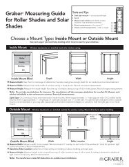 Graber® Measuring Guide for Roller Shades and Solar Shades