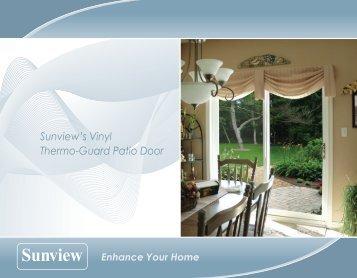 Sunview\u0027s Vinyl Thermo Guard Patio Door   Millennium Windows Ltd.