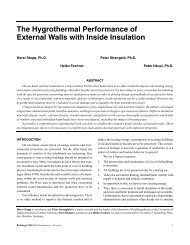 The Hygrothermal Performance of External Walls with Inside Insulation