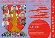 L I S T A N U M E R O 3 PARTITO SOCIALISTA, VERDI E ...