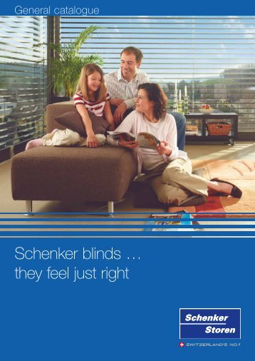 Schenker blinds … they feel just right - Schenker Stores France