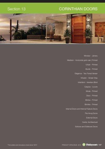 view Corinthian Doors pdf - Finlaysons & Redicote Magazines