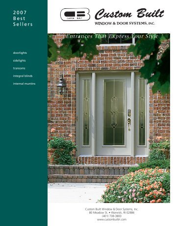 Entrances That Express Your Style - Custom Built Window and Door ...