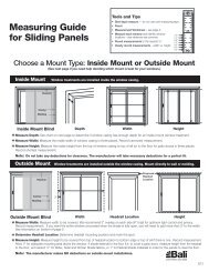 Measuring Guide for Sliding Panels - Bali Blinds and Shades