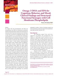 Omega-3 DHA and EPA for Cognition, Behavior, and Mood: Clinical ...