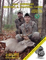 Resources Agency www.tnwildlife - Tennessee Vacation