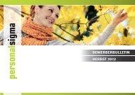 BeWerBerBUlleTin HerBsT 2012 - Personal Sigma Aarau AG