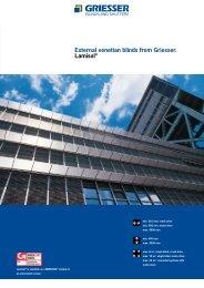 External venetian blinds from Griesser. Lamisol®