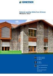External venetian blinds from Griesser. Metalunic Sinus® - restore