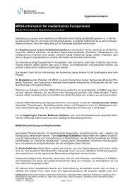 MRSA-Information Fachpersonal - beim Spitalverbund Appenzell ...