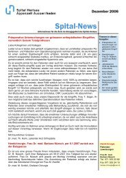 Spital-News - beim Spitalverbund Appenzell Ausserrhod