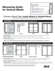 Measuring Guide for Vertical Blinds - Bali Blinds and Shades