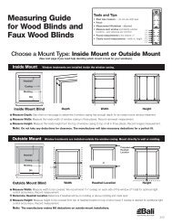 Measuring Guide for Wood Blinds and Faux Wood Blinds