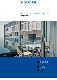External venetian blinds from Griesser. Metalunic® - Crocist